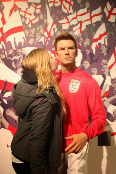 Madame Tussauds with David Beckham