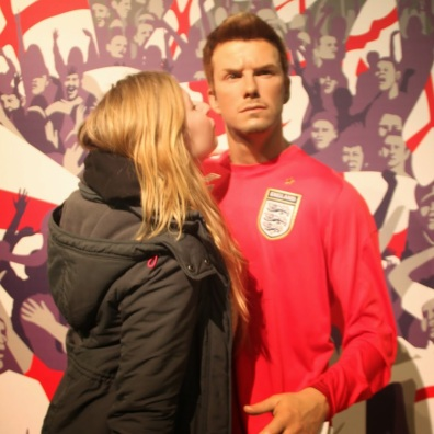 Madame Tussauds with David Beckham