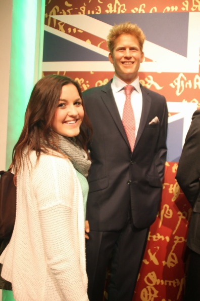 Madame Tussauds with Prince Harry