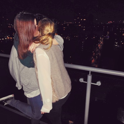 Happy New Years Eve Kiss in Canary Wharf :*