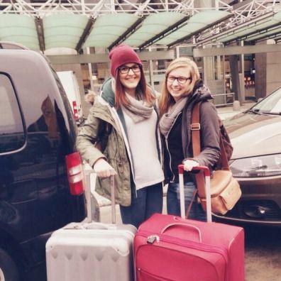 Ankunft am Frankfurter Flughafen