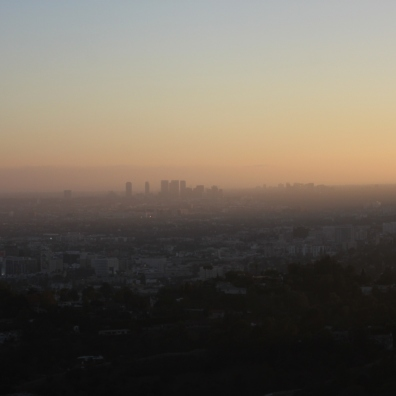 Sunset over Los Angeles