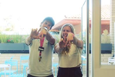 We ♥ LA! E. & me