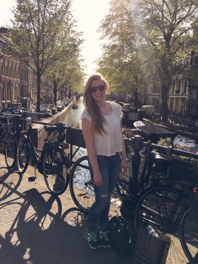 me in sunny Amsterdam