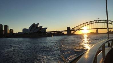 Opera House + Harbour Bridge   Sunset
