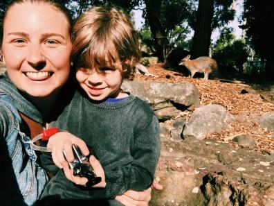 me & Aiden w/ Kangaroos ♥